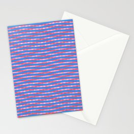 Waving Fuzzy Pink and Blue Pattern Stationery Cards