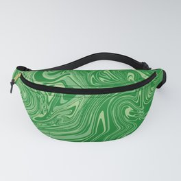 Green pastel abstract marble Fanny Pack