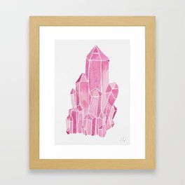 Rose Quartz Watercolor Framed Art Print