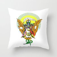 hindu Throw Pillows featuring Hindu Universe by MARICAMA