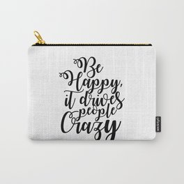 Motivation Quote Motivation Print Motivationa Wall Art Dormroom Decor Do Something Today HAPPY QUOTE Carry-All Pouch