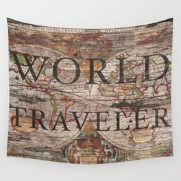World Traveler Wall Tapestry