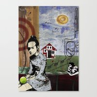poland Canvas Prints featuring My summer in Poland by JulieAaland