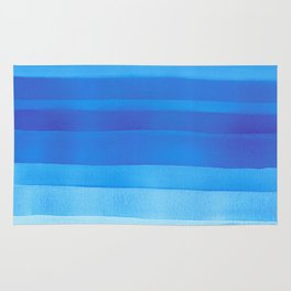 Blue layers abstract Rug