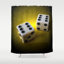 Roll the dice III Shower Curtain