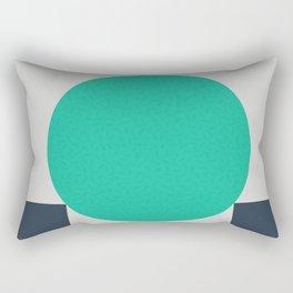 No Way Back / Cyan & Dark Blue Rectangular Pillow