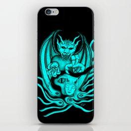 Midnight Dream , Black and Green Design iPhone Skin