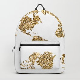 world map gold wanderlust Backpack