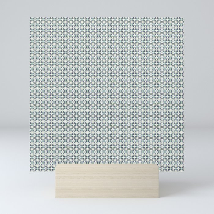 basket weave bg Mini Art Print