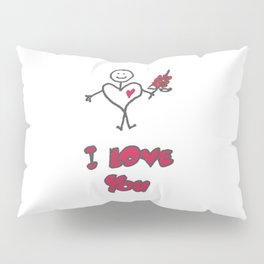 "Heartman ""I Love You"" Pillow Sham"