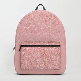 Rose Gold Glitter Cascade Backpack