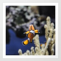 nemo Art Prints featuring Nemo by lulu althuwaini