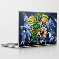 saga Laptop & iPad Skins featuring DBZ - Cell Saga by Mr. Stonebanks