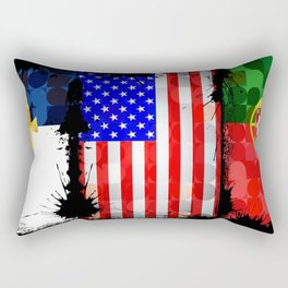 Azorean, American, Portuguese art flags Rectangular Pillow