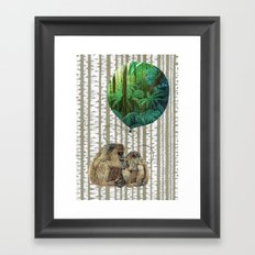 Monkey Balloon Dreams Framed Art Print