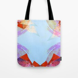 Triangles in red Tote Bag