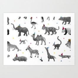 Animal Parade Art Print