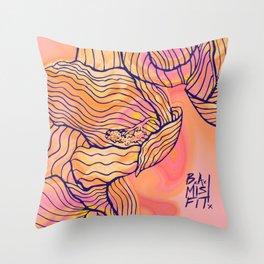 Cascading Freesia (PiNK) Throw Pillow