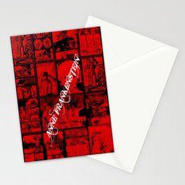 RED - Anne Frankenstein Book I - Resurrection  Stationery Cards