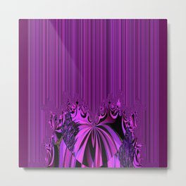 Neon Heart and Stripes Metal Print