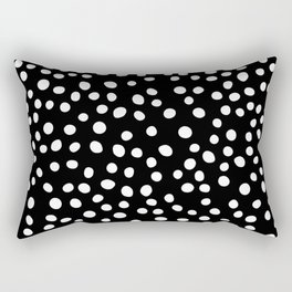 Black and white doodle dots Rectangular Pillow