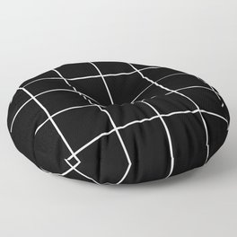 BLACK AND WHITE GRID Floor Pillow