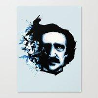 edgar allan poe Canvas Prints featuring Edgar Allan Poe Crows by Ludwig Van Bacon