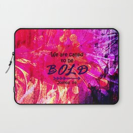 CALLED TO BE BOLD Floral Abstract Christian Typography Scripture Jesus God Hot Pink Purple Fuchsia Laptop Sleeve