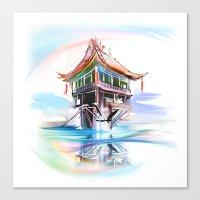 vietnam Canvas Prints featuring Vietnam by tatiana-teni