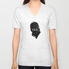 Doh – Homer Simpson Silhouette Quote Unisex V-Neck