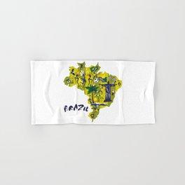 Abstract Brazil Soccer Mural Hand & Bath Towel