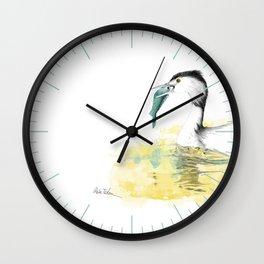 Der Haubentaucher Wall Clock