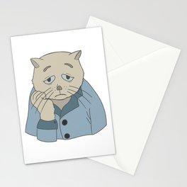 Depressed cat Stationery Cards