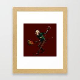 Broom Dancin' Framed Art Print