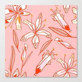 Lilies Warm Canvas Print