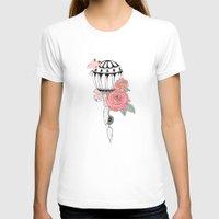 hot air balloon T-shirts featuring Hot Air Balloon Ride  by holmeg_art