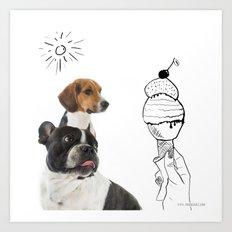 Juno and Ari ice-cream  Art Print
