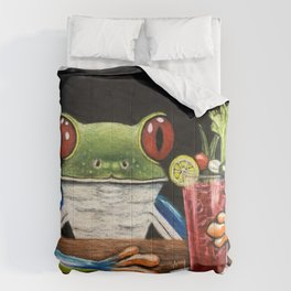 """""""Bloody Mary"""" - Frogs After five collection Comforters"""