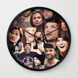 Jared Padalecki Collage Wall Clock