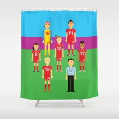 Pixel Players Canada Shower Curtain