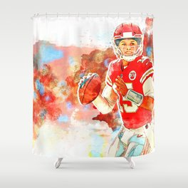 Chiefs Mahomes Shower Curtain