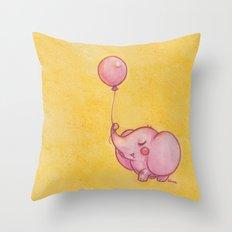 My pink balloon Throw Pillow