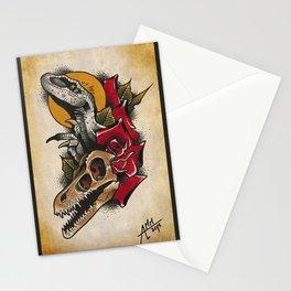 velociraptor tattoo flash Stationery Cards