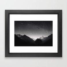 Himalayas at Night Framed Art Print