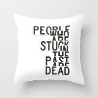 dead Throw Pillows featuring Dead by WRDBNR