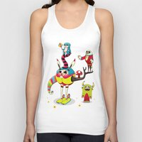 candy Tank Tops featuring Candy by Teodoru Badiu