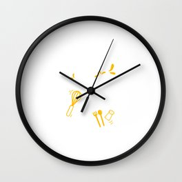 Funny Cookbook Kitchen Recipe Cooking Cook Gift Wall Clock