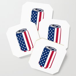 American Beer Can Flag Coaster