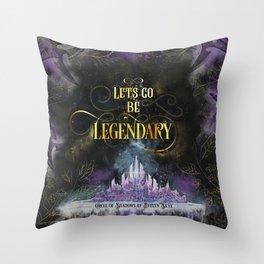 Circle of Shadows - Legendary Throw Pillow