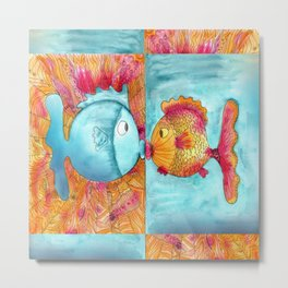 Fish Kiss Metal Print